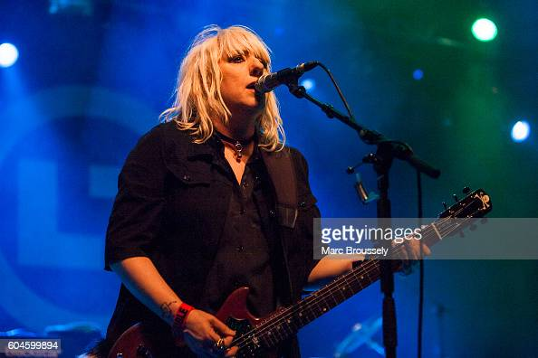Suzi Gardner of L7 performs at The Forum on September 13 2016 in London England
