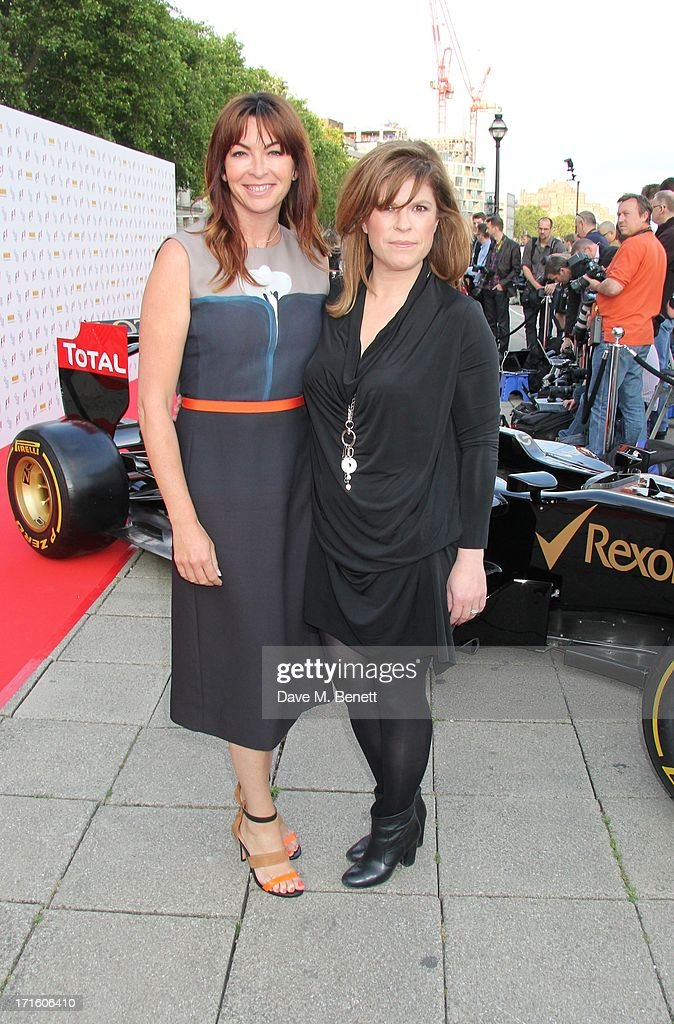 Suzi Perry and Emma B attend the F1 Party in aid of great ormond street hospital childrens charity at Old Billingsgate Market on June 26, 2013 in London, England.
