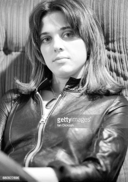 Suzi Quatro portrait at Rak Records office London 1974