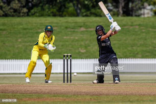 Suzie Bates batting during the Women's One Day International match between the New Zealand White Ferns and the Australia Southern Stars on March 2...