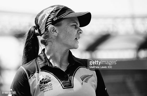Suzie Bates Captain of New Zealand looks on during the Women's ICC World Twenty20 India 2016 Semi Final match between New Zealand and West Indies at...