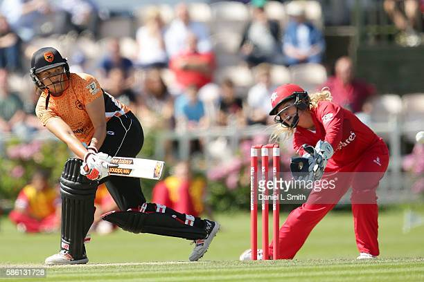 Suzie Bates of Southern bats during the Kia Super League match between Lancashire Thunder and Southern Vipers at Stanley Park on August 5 2016 in...