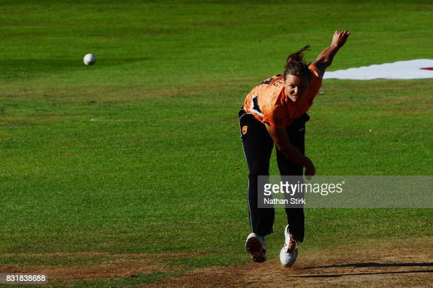 Suzie Bates of Southern Vipers runs into bowl during the Kia Super League 2017 match between Loughborough Lightning and Southern Vipers at The 3aaa...