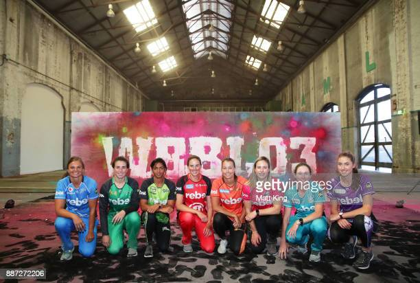 Suzie Bates of the Adelaide Strikers Georgia Elwiss of the Melbourne Stars Harmanpreet Kaur of the Sydney Thunder Amy Satterthwaite of the Melbourne...