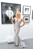 Suzie Kennedy attends the 'Marilyn' exhibition presented by Getty Images marking the 50th year since the death of Marilyn Monroe held at the Getty...
