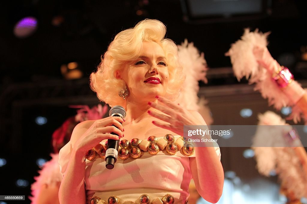 Suzie Kennedy Marilyn Monroe lookalike attends the Lambertz Monday Night at Alter Wartesaal on January 27 2014 in Cologne Germany