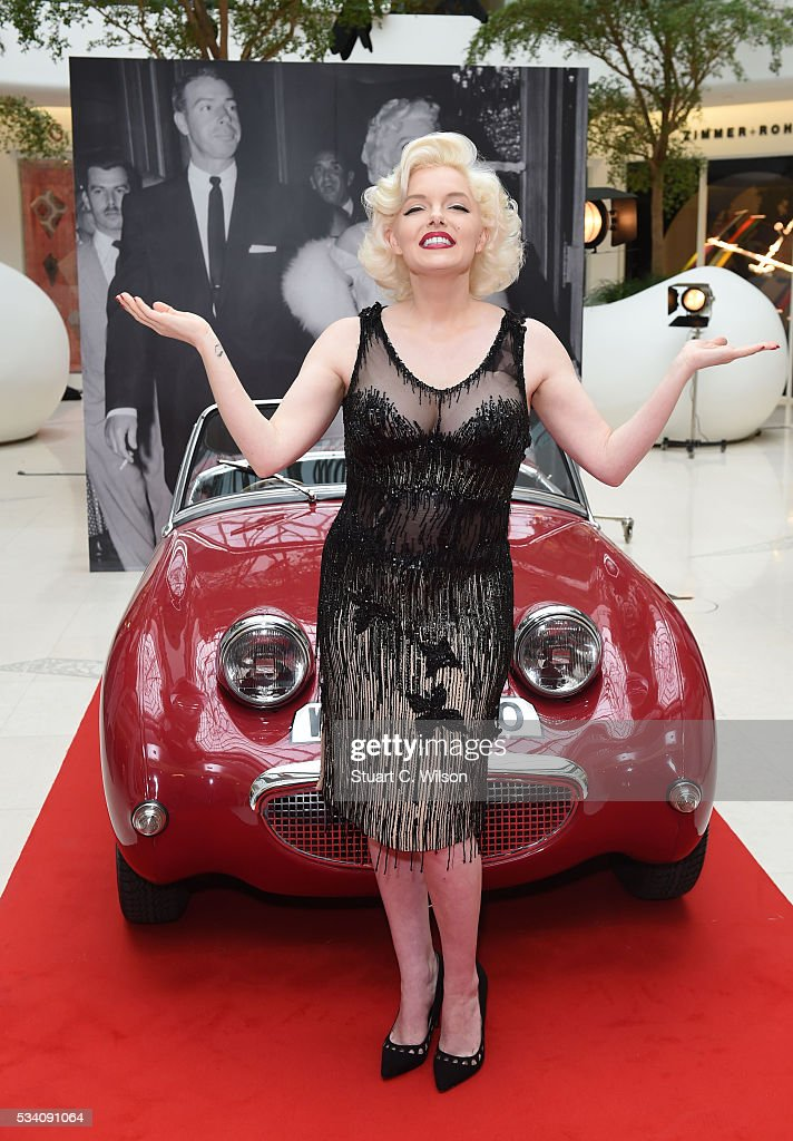 Suzie Kennedy, the world's leading Marilyn Monroe lookalike, launches Marilyn Monroe: Legacy of a Legend exhibition at Design Centre on May 25, 2016 in London, England. Suzie is wearing the actual dress worn by Marilyn in 'Some Like It Hot' excpected to fetch up to $400,000 at Julien's Auctions in November.