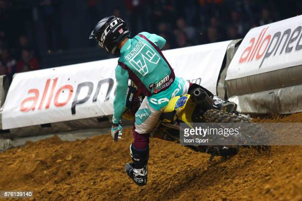Suzuki JPM's rider Yannis Irsuti of France during the Supercross of Paris qualifying day on November 18 2017 at U Arena in Nanterre France