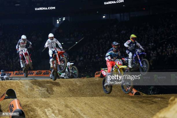 Suzuki JPM's rider Yannis Irsuti of France during the Supercross of Paris on November 19 2017 at U Arena in Nanterre France