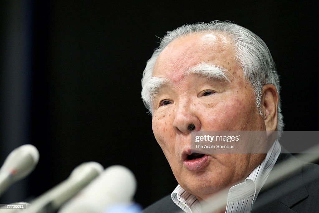 Suzuki Motor Co CEO and President <a gi-track='captionPersonalityLinkClicked' href=/galleries/search?phrase=Osamu+Suzuki&family=editorial&specificpeople=580987 ng-click='$event.stopPropagation()'>Osamu Suzuki</a> speaks during a press conference on September 12, 2011 in Tokyo, Japan.