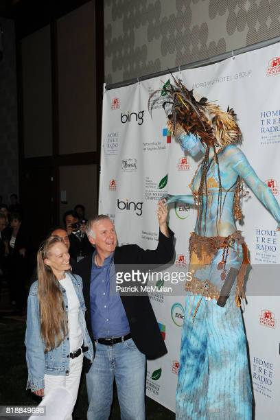 Suzy Cameron and James Cameron attend James Cameron and AVATAR Cast Celebrate Earth Day in Los Angeles at JW Marriot on April 22 2010 in Los Angeles...