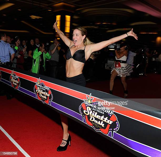 Suzy Favor Hamilton attends the Rock 'n' Roll Las Vegas Stiletto Dash at The Palazzo on December 3 2011 in Las Vegas Nevada