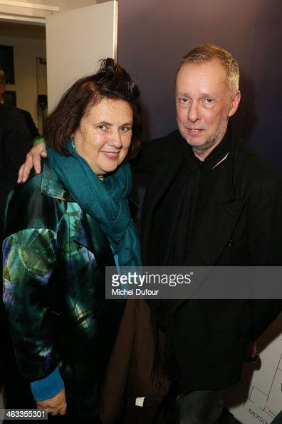 Suzy Menkes and Bill Gaytten attend the John Galliano Menswear Fall/Winter 20142015 Show as part of Paris Fashion Week on January 17 2014 in Paris...
