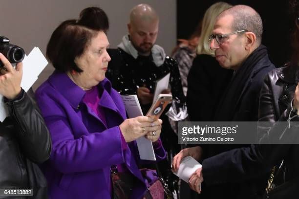 Suzy Menkes and Jonathan Newhouse attend the 'Rei Kawakubo Comme Des Garcons Art Of The InBetween' Presentation as part of the Paris Fashion Week...