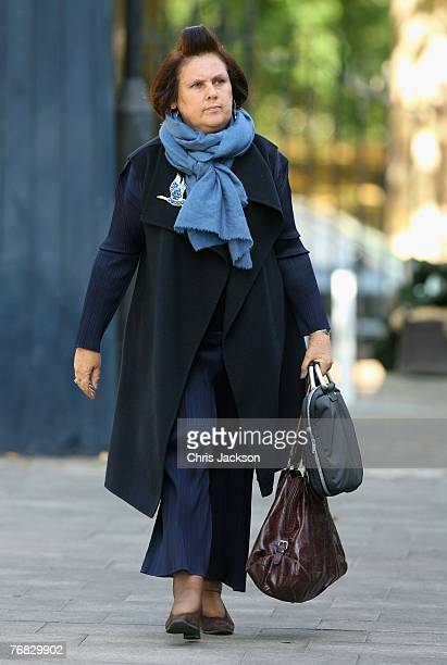 Suzy Menkes arrives at the Isabella Blow Tribute at Guards Chapel on September 18 2007 in London England The magazine editor and international style...