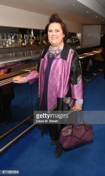 Suzy Menkes attends a dinner hosted by Jonathan Newhouse and Albert Read for Edward Enninful to celebrate the December issue of British Vogue at the...