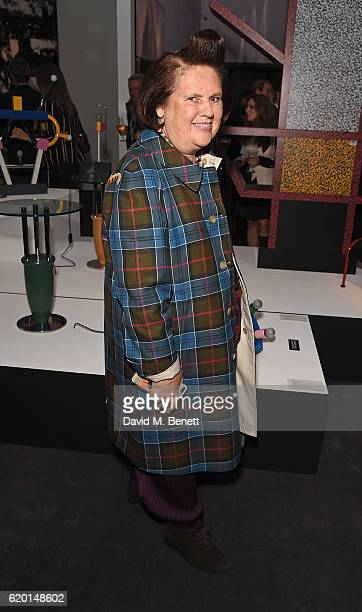 Suzy Menkes attends a private view of 'Bowie/Collector' the personal art collection of David Bowie at Sotheby's on November 1 2016 in London England