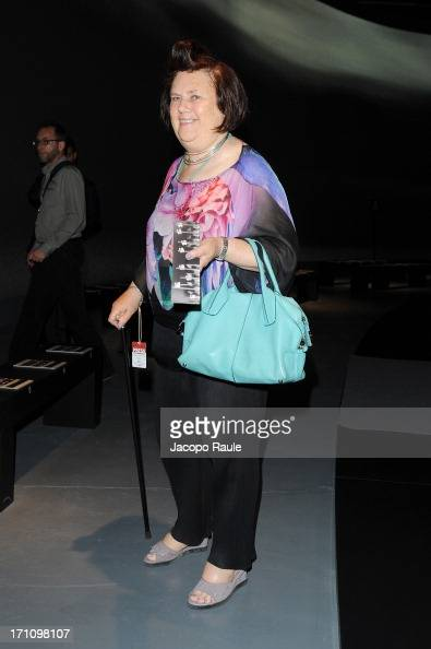 Suzy Menkes attends Ermenegildo Zegna show during Milan Menswear Fashion Week Spring Summer 2014 on June 22 2013 in Milan Italy