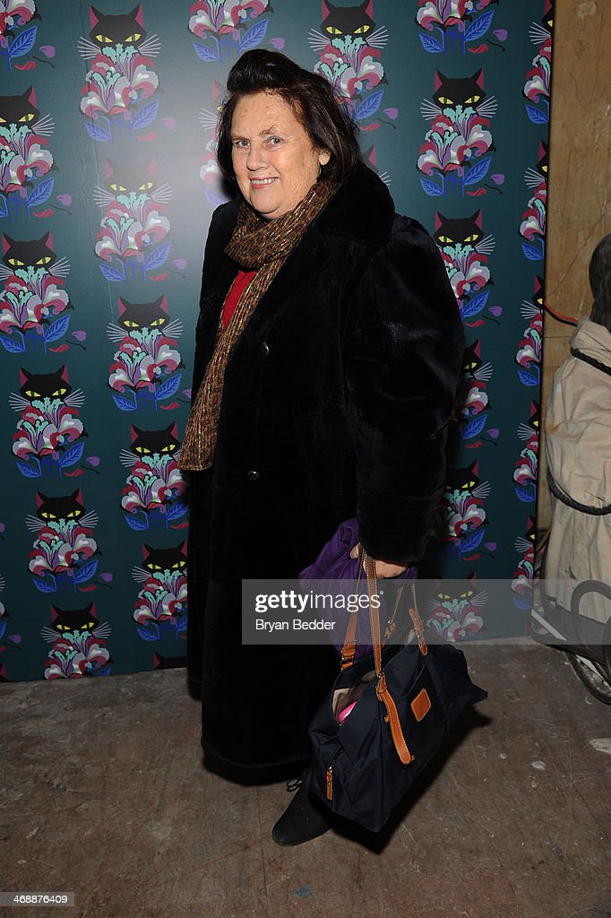 Suzy Menkes attends Miu Miu Women's Tales 7th Edition 'Spark Light' Screening Arrivals at Diamond Horseshoe on February 11 2014 in New York City