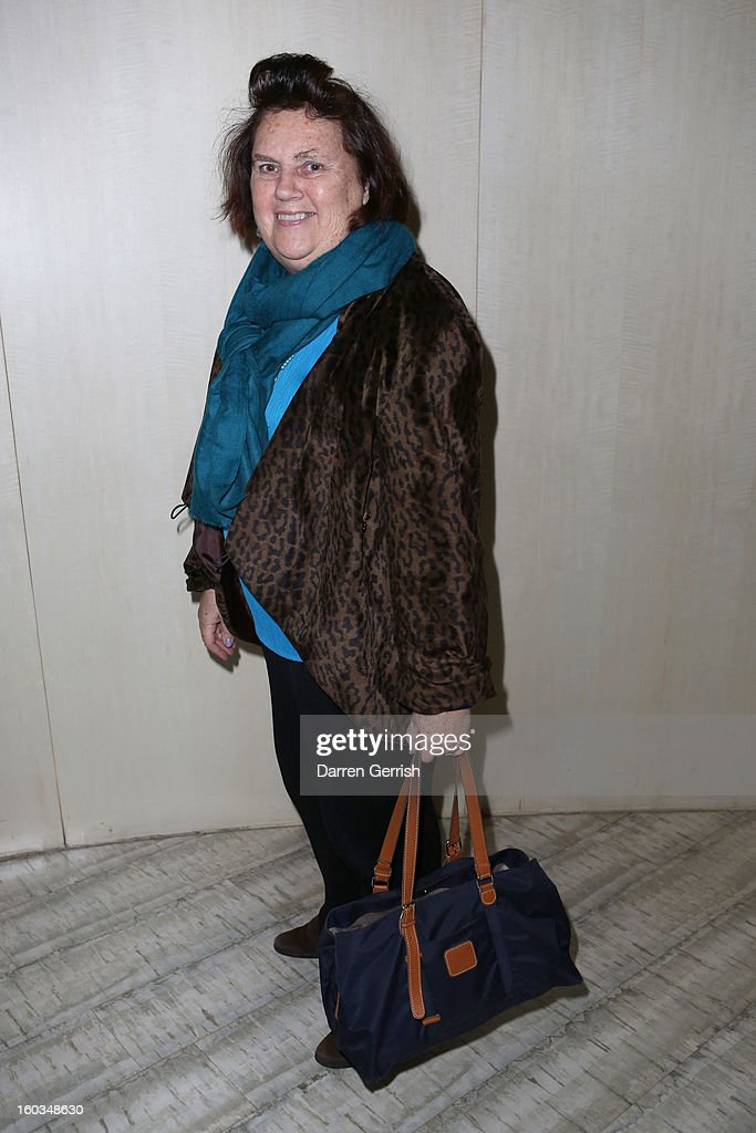 Suzy Menkes attends Nobu Berkeley during the BFC/Vogue Designer Fashion Fund - Winners Announcement on January 29, 2013 in London, England.