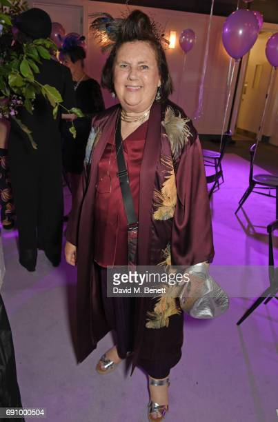Suzy Menkes attends Stephen Jones 100th Birthday gala dinner celebrating his 60th birthday and 40 years in millinery at Bistrotheque on May 31 2017...