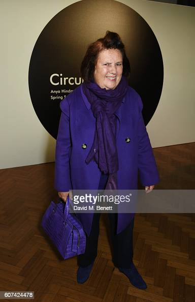 Suzy Menkes attends the Anya Hindmarch Spring Summer 2017 London Fashion Week Show at The Lindley Hall on September 18 2016 in London England