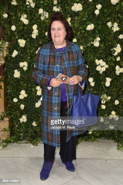 Suzy Menkes attends the Balmain show as part of the Paris Fashion Week Womenswear Spring/Summer 2018 on September 28 2017 in Paris France
