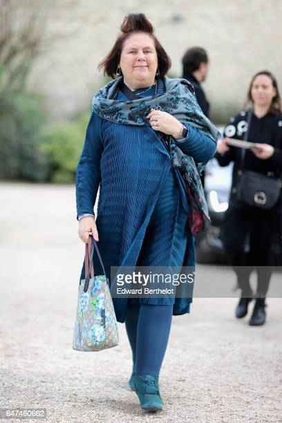 Suzy Menkes attends the Christian Dior show as part of the Paris Fashion Week Womenswear Fall/Winter 2017/2018 on March 3 2017 in Paris France