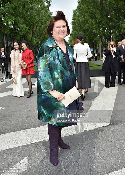 Suzy Menkes attends the Giorgio Armani 40th Anniversary Silos Opening And Cocktail Reception on April 30 2015 in Milan Italy