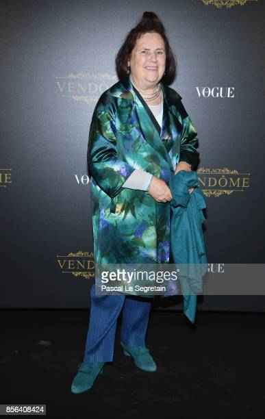 Suzy Menkes attends the Irving Penn Exhibition Private Viewing Hosted by Vogue as part of the Paris Fashion Week Womenswear Spring/Summer 2018 on...