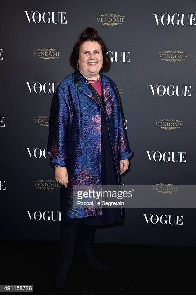 Suzy Menkes attends the Vogue 95th Anniversary Party on October 3 2015 in Paris France