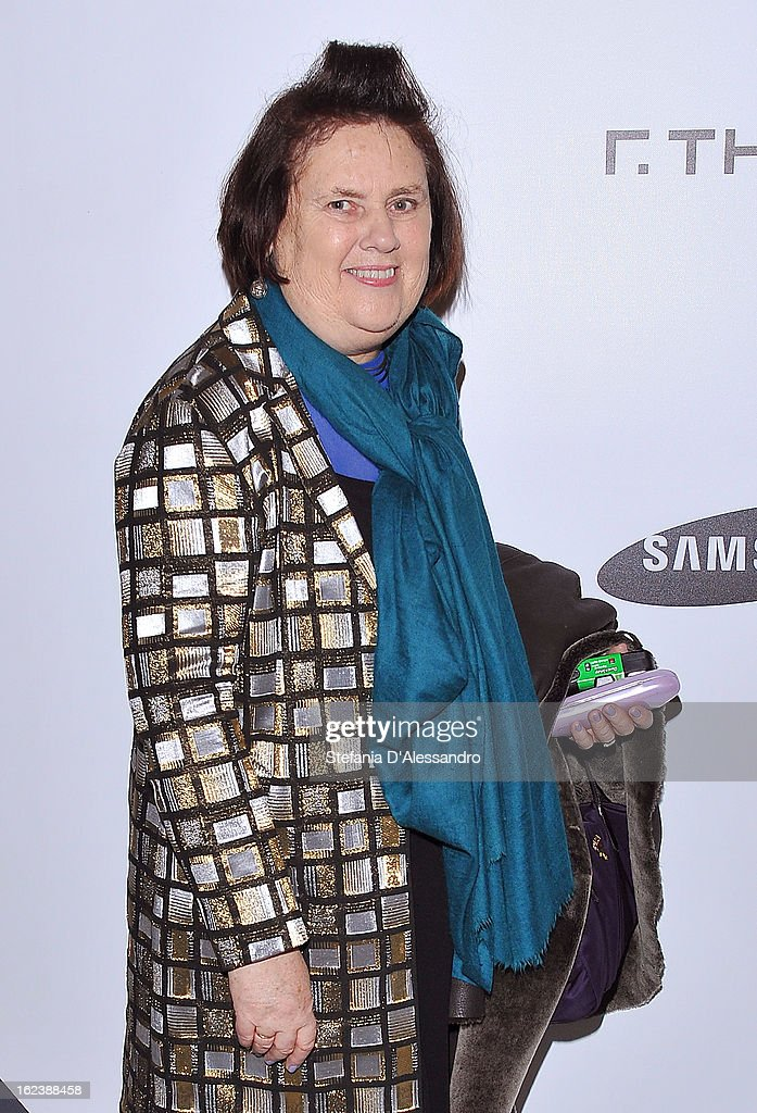 Suzy Menkes attends The Vogue Talent's Corner held at Palazzo Morando during Milan Fashion Week Womenswear Fall/Winter 2013/14 on February 22, 2013 in Milan, Italy.
