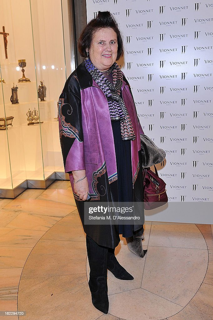 <a gi-track='captionPersonalityLinkClicked' href=/galleries/search?phrase=Suzy+Menkes&family=editorial&specificpeople=816435 ng-click='$event.stopPropagation()'>Suzy Menkes</a> attends W And Vionnet Hosts The Thayaht Exhibition on February 21, 2013 in Milan, Italy.