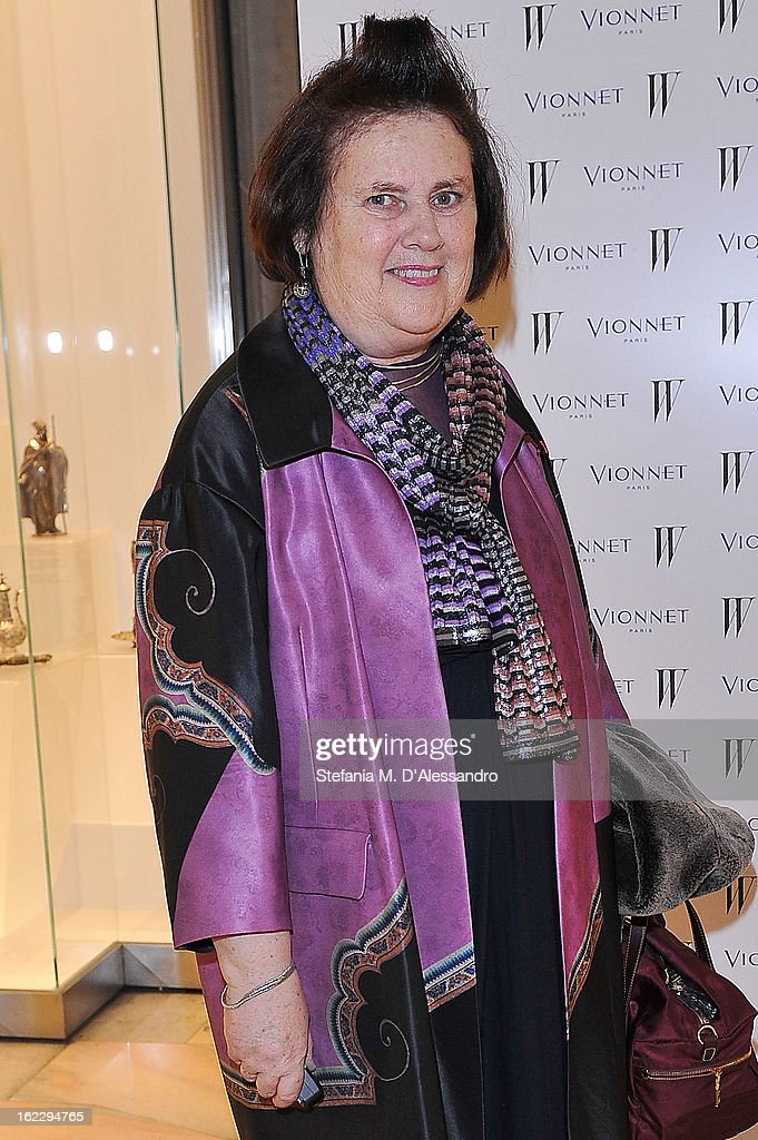 Suzy Menkes attends W And Vionnet Hosts The Thayaht Exhibition on February 21, 2013 in Milan, Italy.