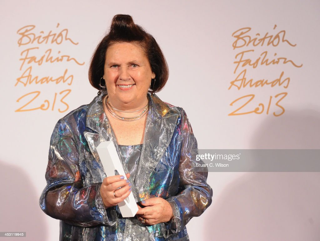 <a gi-track='captionPersonalityLinkClicked' href=/galleries/search?phrase=Suzy+Menkes&family=editorial&specificpeople=816435 ng-click='$event.stopPropagation()'>Suzy Menkes</a> with the Special Recognition Awards poses in the winners room at the British Fashion Awards 2013 at London Coliseum on December 2, 2013 in London, England.