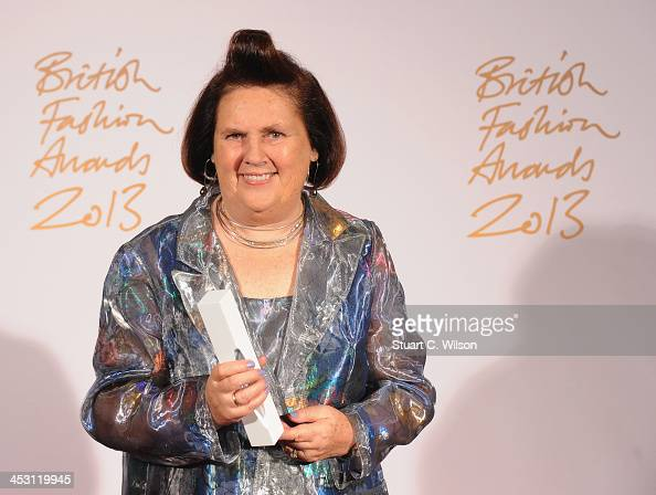 Suzy Menkes with the Special Recognition Awards poses in the winners room at the British Fashion Awards 2013 at London Coliseum on December 2 2013 in...