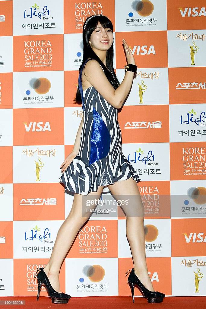 Suzy of girl group Miss A attends the 22nd High1 Seoul Music Awards at SK Handball Arena on January 31, 2013 in Seoul, South Korea.