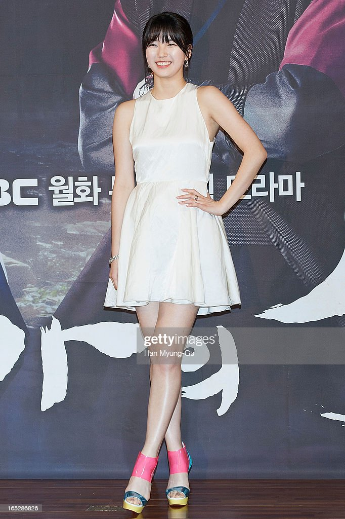 Suzy of South Korean girl group Miss A attends the MBC Drama 'Goo Family's Secret' Press Conference at 63 Building on April 2, 2013 in Seoul, South Korea. The drama will open on April 08 in South Korea.