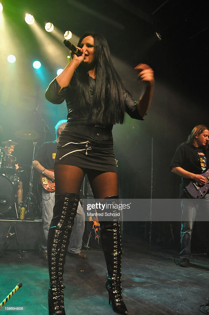 Suzy Q of Sextiger performs onstage during the heavy X-mas concert at Szene Wien music club on December 20, 2012 in Vienna, Austria.