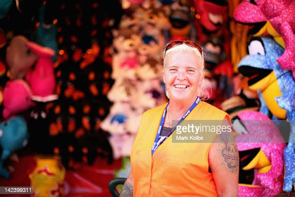Suzy Rogers poses at her stall during preparations for 2012 Sydney Royal Easter Show at the Sydney Showground on April 3 2012 in Sydney Australia The...