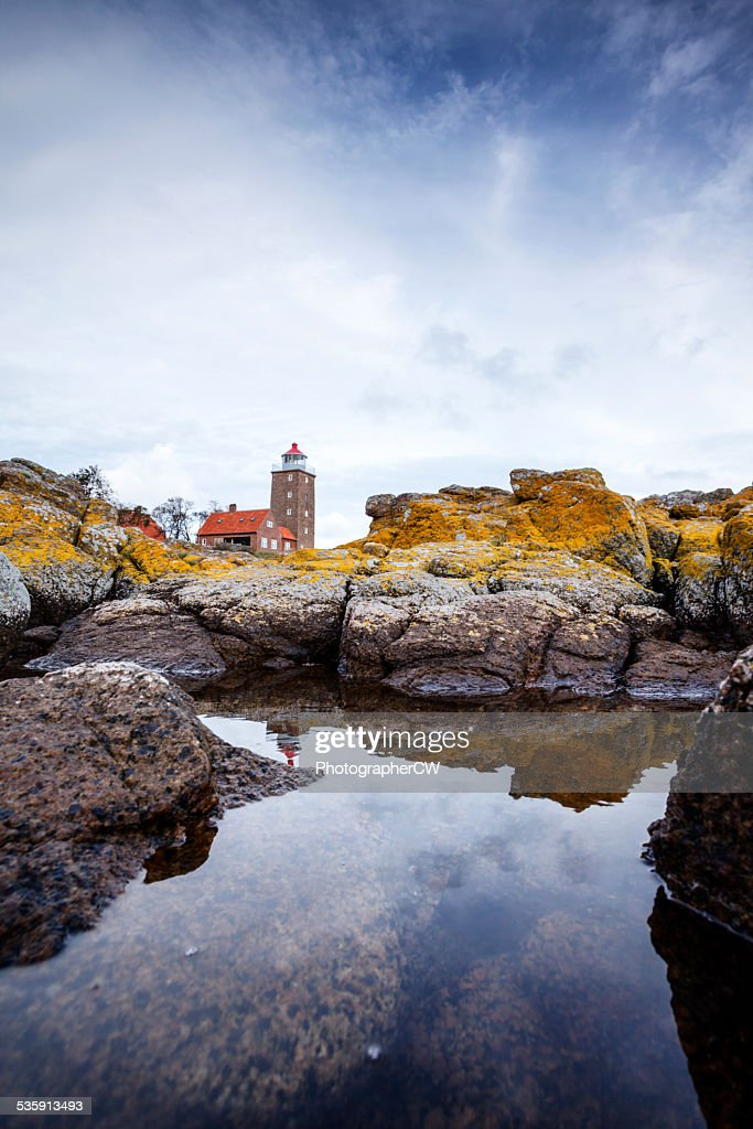 Svaneke lighthouse, Bornholm, Denmark : Stock Photo