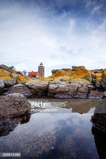 Svaneke lighthouse, Bornholm, Denmark : Stock Photo