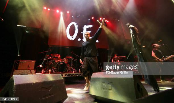 Svatoslav Vakarachuk Denis Dudko Denis Glinin and Milos Jelic of the band Okean Enzy perform at the Avalon Hollywood on March 13 2017 in Los Angeles...