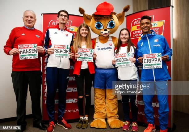 Svein Arne Hanse President of European Athletics Jozef Repcik of Slovakia Konstanze Klosterhalfen of Germany Official mascot Lucia Janeckova of...