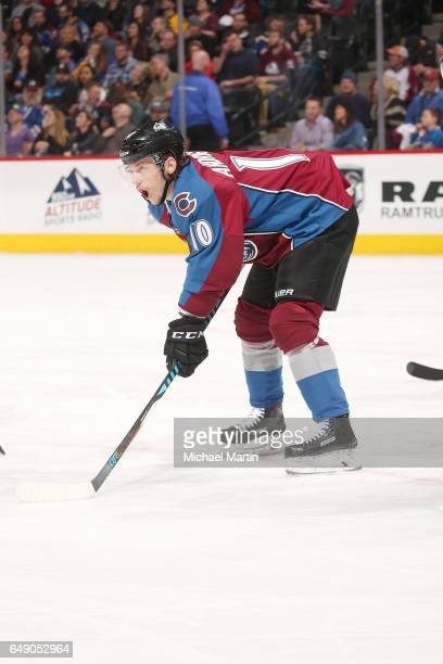 Sven Andrighetto of the Colorado Avalanche skates against the St Louis Blues at the Pepsi Center on March 5 2017 in Denver Colorado The Blues...