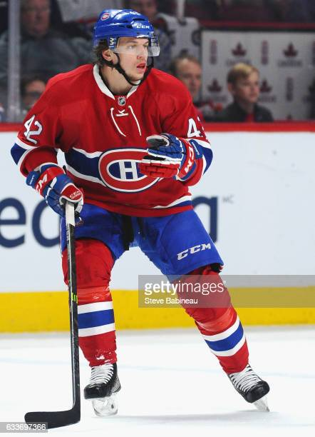 Sven Andrighetto of the Montreal Canadiens plays in the game against the Edmonton Oilers at Bell Centre on February 6 2016 in Montreal Quebec Canada