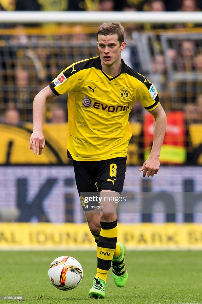 Sven Bender of Borussia Dortmund during the Bundesliga match between Borussia Dortmund and VfL Wolfsburg on April 30, 2016 at the Signal Idun Park stadium in Dortmund, Germany.