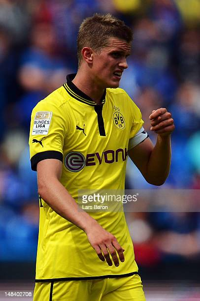Sven Bender of Dortmund is seen during a friendly match between Club Brugge KV and Borussia Dortmund at Jan Breydel Stadium on July 14 2012 in Brugge...