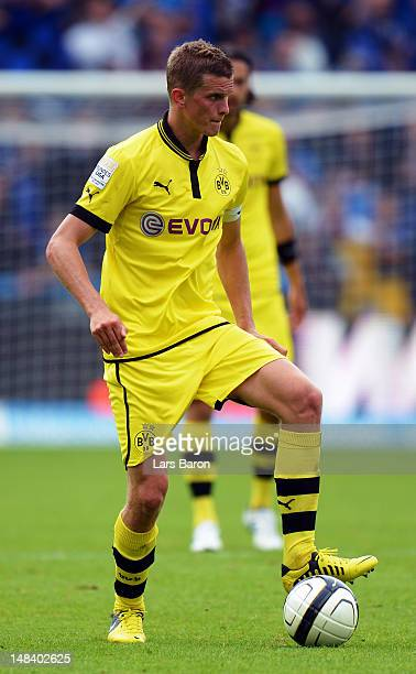 Sven Bender of Dortmund runs with the ball during a friendly match between Club Brugge KV and Borussia Dortmund at Jan Breydel Stadium on July 14...