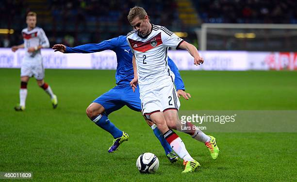 Sven Bender of Germany runs with the ball during the International Friendly match between Italy and Germany at San Siro Stadium on November 15 2013...